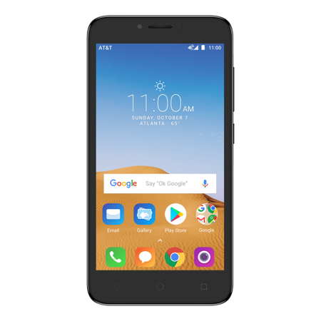 I85s Cell Phone - AT&T PREPAID Alcatel TETRA 16GB Prepaid Smartphone, Black – Get UNLIMITED DATA. Details below.