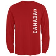 0e8275ea853 World Cup Canada Red Adult Long Sleeve T-Shirt