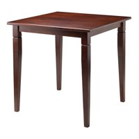 Winsome Wood Kingsgate Dining Table with Tapered Legs, Walnut