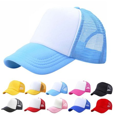 Kacakid Baby Toddler Boys Girls Sport Hat Child Peaked Baseball Mesh Snapback Adjustable Cap 3-8Y - Hats For Boys