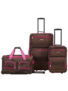 Rockland Luggage Spectra 3 Piece Softside Rolling Luggage Set