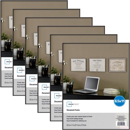 Mainstays 85x11 Document Format Picture Frame Set Of 6 Walmartcom