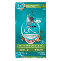 Purina One Indoor Weight & Hairball Control Natural Dry Cat Food (Various Sizes)