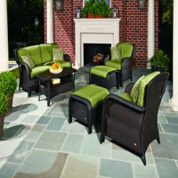 6-Piece Outdoor Woven Lounge Set