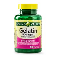 (2 Pack) Spring Valley Gelatin Capsules, 1300 mg, 100 Ct