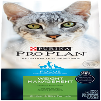 Purina Pro Plan Focus Weight Management with Chicken & Rice Adult Dry Cat Food, 3.5 lb