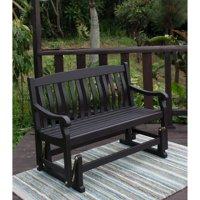 Better Homes & Gardens Delahey Outdoor Glider Bench, Dark Brown