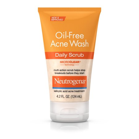 Neutrogena Oil-Free Acne Face Wash Daily Face Scrub, 4.2 fl.