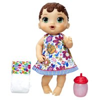 Baby Alive Lil' Sips Baby, Brown Sculpted Hair, Ages 3 and up