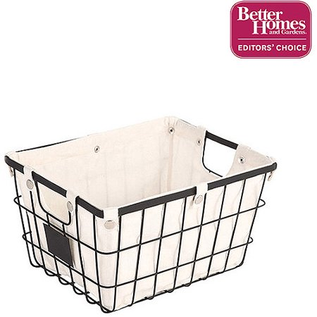 Hanging Wire Fruit Basket (Better Homes and Gardens Small Wire Basket with Chalkboard, Black (1 Piece))