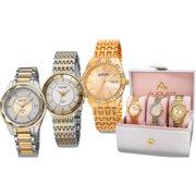 1d419de33753 August Steiner Women s Diamond- Accented Alloy Built 3-Piece Bracelet Watch  Set