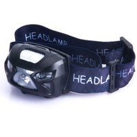 USB Headlamp Rechargeable Flashlight Sensor LED Headlamp - Waterproof & Comfortable - Perfect Headlamps for Running, Walking, Camping, Reading, Hiking, Kids, DIY & More, USB Cable Included, Black