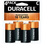 Duracell 1.5V Coppertop Alkaline C Batteries 4 Pack
