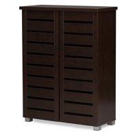 Baxton Studio Adalwin 2 Door Entryway Shoes Storage Cabinet