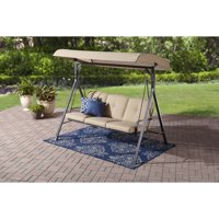 Mainstays Forest Hills 3-Seat Cushion Canopy Porch Swing