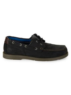 Piper Cove Leather Lace-Up Boat Shoes