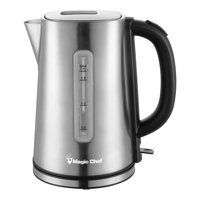 Magic Chef 7.2-Cup Electric Kettle with Cordless Pouring in Stainless Steel