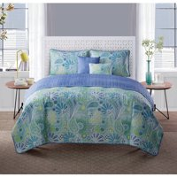VCNY Home Harmony 5-Piece Reversible Paisley Bedding Quilt Set