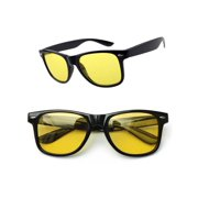 Yellow Lens Polarized Night Vision Glasses Sport Outdoor Driving Riding Sunglasses Anti Glaring Safety Goggles