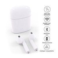 Wireless Bluetooth 4.2 EarPod Headphone Earbuds - Stereo Sync - Completely Wireless - Charging Dock Included