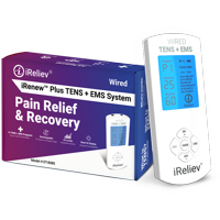 Premium TENS Unit + EMS Muscle Stimulator Pain Relief and Recovery System by iReliev