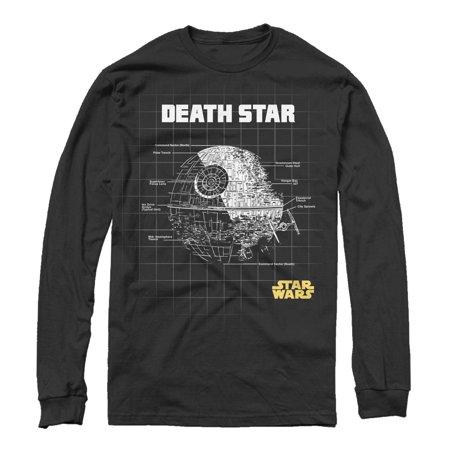 Star Wars Men's Death Star Schematics Long Sleeve