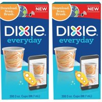 (2 Pack) Dixie 3oz Bath/Mouth Rinse Paper Cups, 200ct