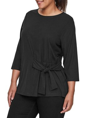Plus Luan Three-Quarter Sleeve Blouse