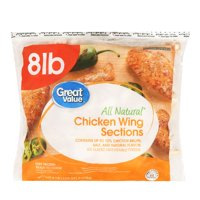 Great Value Frozen Chicken Wing Sections, 8.0 lb