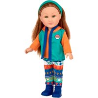 """My Life As 7"""" Mini Poseable Outdoorsy Girl Doll, Red Hair"""