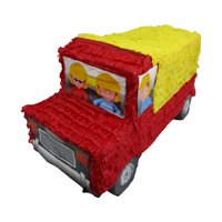 Dump Truck Pinata, Party Game, 3D Centerpiece Decoration and Photo Prop for Construction Themed Birthdays