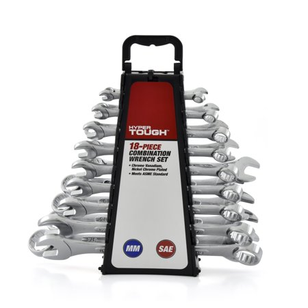 Hyper Tough 18-Piece Combination Wrench Set