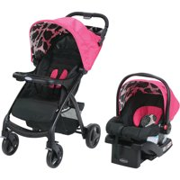 Graco Verb Click Connect Travel System with SnugRide 30 Infant Car Seat, Azalea