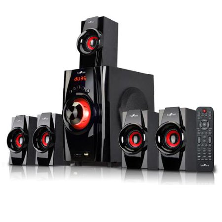 beFree Sound BFS-410 5.1 Channel Surround Sound Bluetooth Speaker System in