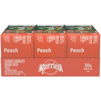 PERRIER Peach Flavored Carbonated Mineral Water 30-8.45 fl. oz. Cans