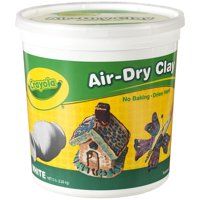 Crayola Air Dry Clay Bucket, No Bake Clay for Kids, 5lbs., White