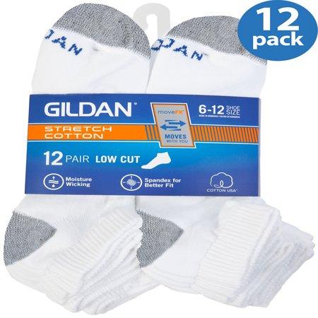 Men's Performance Cotton moveFX Lowcut Socks, 12-pack ()