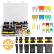 eeekit waterproof car auto electrical wire connector terminal plug kit 1-6  pin way with
