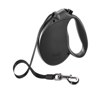 flexi Retractable Dog Leash (Tape), 16 ft, Large, Black