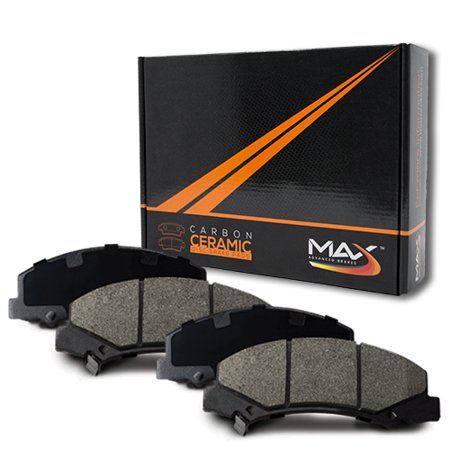 Max Brakes Rear Carbon Ceramic Performance Disc Brake Pads KT071452 | Fits: 2009 09 2010 10 2011 11 2012 12 Dodge Journey w/302mm Front Rotor and 305mm Rear Rotor; Manufactured To 3/6/2012 - image 6 de 6