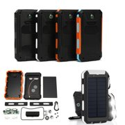 20000mAh Portable Solar Power Bank External Battery 2 USB Charger Cellphone