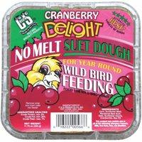 C & S PRODUCTS CO INC Wild Bird Suet Dough Cake, Cranberry Delight, 11.75-oz