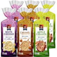 Quaker Gluten Free Rice Cakes, Variety Pack, 6 Bags
