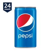(4 Pack) Pepsi Mini Cans, 7.5 Fl Oz, 6 Count