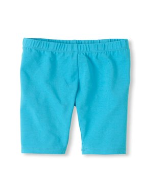 Vivian's Fashions Legging Shorts - Girls, Biker Length, Cotton (Royal Blue, Lg)