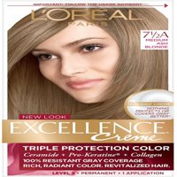 L'Oreal Paris Excellence Créme Permanent Hair Color, 7.5A Medium Ash Blonde 1 ea