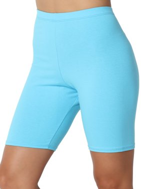 TheMogan Women's PLUS Mid Thigh Stretch Cotton Active Bermuda Under Short Leggings