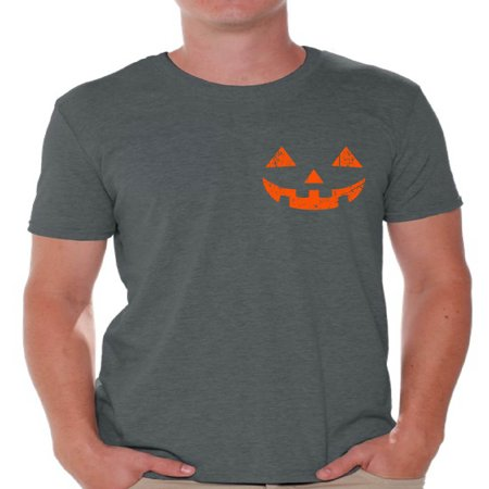 Awkward Styles Halloween Pumpkin Face Tshirt Men's Halloween Shirt Spooky T-Shirt Halloween Shirts for Men Jack-O'-Lantern T-Shirt Halloween Pumpkin T Shirt Scary Gifts for Him Pumpkin Shirts](Scary Pumpkin Designs For Halloween)
