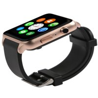 Smart Watch - Bluetooth [Android/iOS], Touch Screen, Water Resistant, Workout/Sleep/Heart Rate Monitor - Gold