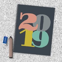 """2019 Pop Art 9"""" x 11"""" January 2019-December 2019 Large Weekly Monthly Planner"""